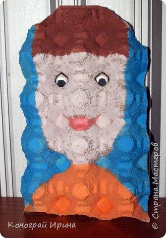 В продолжении темы использования картонных яичных лотков :-)  Забавные 3D-портреты. фото 5