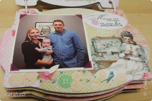 Доброго всем вечера!! Сегодня у моей любимой внучки День Рождения!! Нам 1 годик !! Закончила альбом ,осталась 1 страничка для фото со Дня Рождения. Завтра отпразднуем и добавлю фото . фото 8