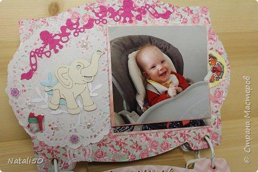 Доброго всем вечера!! Сегодня у моей любимой внучки День Рождения!! Нам 1 годик !! Закончила альбом ,осталась 1 страничка для фото со Дня Рождения. Завтра отпразднуем и добавлю фото . фото 11
