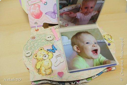 Доброго всем вечера!! Сегодня у моей любимой внучки День Рождения!! Нам 1 годик !! Закончила альбом ,осталась 1 страничка для фото со Дня Рождения. Завтра отпразднуем и добавлю фото . фото 15