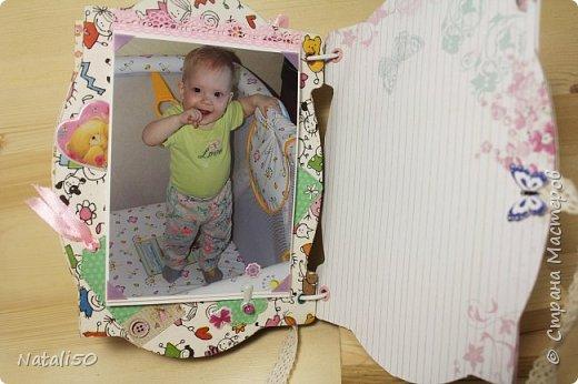 Доброго всем вечера!! Сегодня у моей любимой внучки День Рождения!! Нам 1 годик !! Закончила альбом ,осталась 1 страничка для фото со Дня Рождения. Завтра отпразднуем и добавлю фото . фото 21