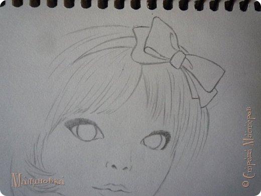 Добрый вечер!  Сегодня я покажу вам, как нарисовать Алису из сказки Льюиса Кэрролла. Нам нужны: простой карандаш, ластик, цветные карандаши (у меня 24 цвета), коричневая, черная и зеленая ручки, белый линер (белая ручка). Ну и, естественно, бумага, на которой вы будете рисовать... фото 30