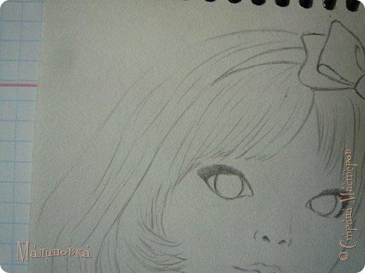 Добрый вечер!  Сегодня я покажу вам, как нарисовать Алису из сказки Льюиса Кэрролла. Нам нужны: простой карандаш, ластик, цветные карандаши (у меня 24 цвета), коричневая, черная и зеленая ручки, белый линер (белая ручка). Ну и, естественно, бумага, на которой вы будете рисовать... фото 32