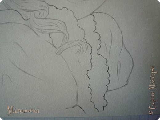 Добрый вечер!  Сегодня я покажу вам, как нарисовать Алису из сказки Льюиса Кэрролла. Нам нужны: простой карандаш, ластик, цветные карандаши (у меня 24 цвета), коричневая, черная и зеленая ручки, белый линер (белая ручка). Ну и, естественно, бумага, на которой вы будете рисовать... фото 38