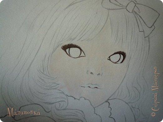 Добрый вечер!  Сегодня я покажу вам, как нарисовать Алису из сказки Льюиса Кэрролла. Нам нужны: простой карандаш, ластик, цветные карандаши (у меня 24 цвета), коричневая, черная и зеленая ручки, белый линер (белая ручка). Ну и, естественно, бумага, на которой вы будете рисовать... фото 43
