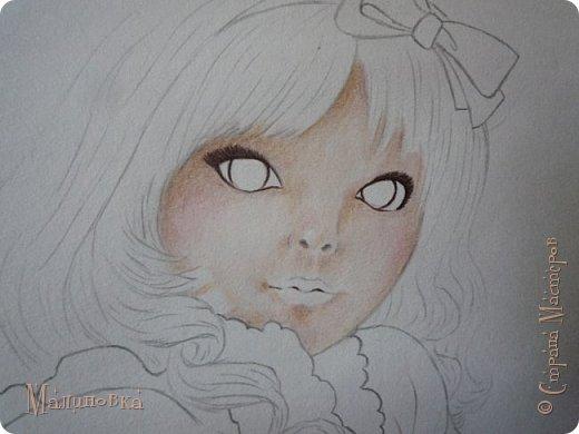 Добрый вечер!  Сегодня я покажу вам, как нарисовать Алису из сказки Льюиса Кэрролла. Нам нужны: простой карандаш, ластик, цветные карандаши (у меня 24 цвета), коричневая, черная и зеленая ручки, белый линер (белая ручка). Ну и, естественно, бумага, на которой вы будете рисовать... фото 45