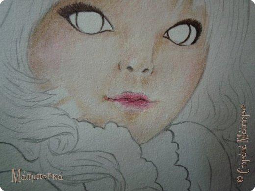 Добрый вечер!  Сегодня я покажу вам, как нарисовать Алису из сказки Льюиса Кэрролла. Нам нужны: простой карандаш, ластик, цветные карандаши (у меня 24 цвета), коричневая, черная и зеленая ручки, белый линер (белая ручка). Ну и, естественно, бумага, на которой вы будете рисовать... фото 46