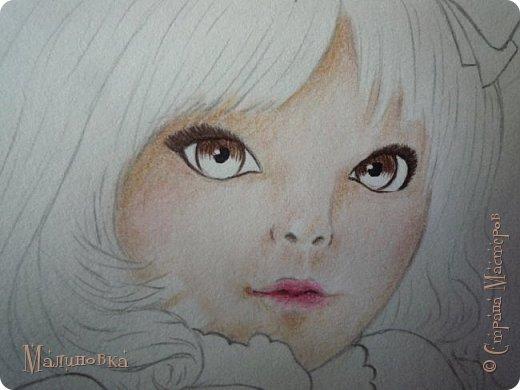Добрый вечер!  Сегодня я покажу вам, как нарисовать Алису из сказки Льюиса Кэрролла. Нам нужны: простой карандаш, ластик, цветные карандаши (у меня 24 цвета), коричневая, черная и зеленая ручки, белый линер (белая ручка). Ну и, естественно, бумага, на которой вы будете рисовать... фото 47