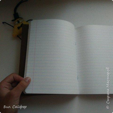 Привет, и с вами снова Билл. Хочу показать вам блокнот (тетрадь) в стиле третьего дневника Диппера. Сделан он из тетради на 98 листов, цветной бумаги и картона. фото 3