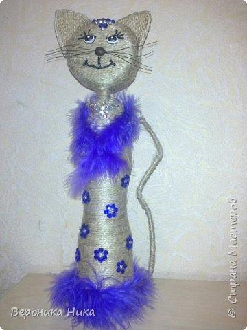 Привет всем мастерам и мастерицам!  Вот и появилась на свет очередная кошка, но теперь уже принцесса.. Не судите строго.... фото 2