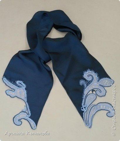 Вот такой шарф с кружевными вставками я сделала для своей любимой мамы! фото 1