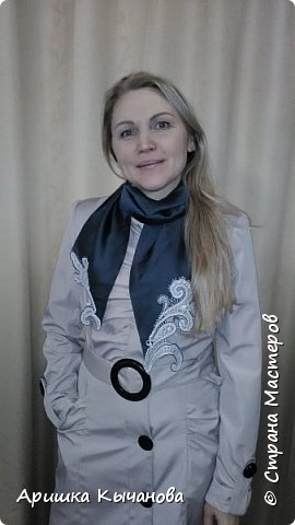 Вот такой шарф с кружевными вставками я сделала для своей любимой мамы! фото 2