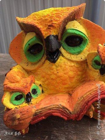 Вот такая красивая сова будет украшать участок моей тети фото 1