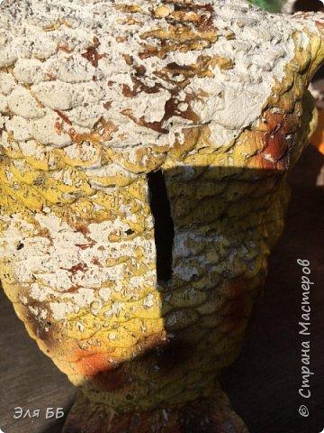 Вот такая красивая сова будет украшать участок моей тети фото 4