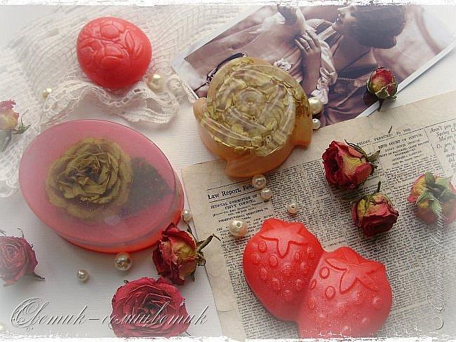 """Доброго летнего дня всем! Сегодня у меня мыло и бомбочки для ванн, которые я назвала """"Винтажная роза"""". фото 2"""