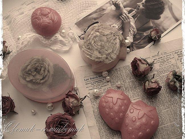 """Доброго летнего дня всем! Сегодня у меня мыло и бомбочки для ванн, которые я назвала """"Винтажная роза"""". фото 1"""