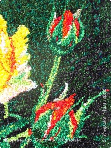 """Вот и моя чайная роза наконец """"расцвела"""". Всё не давали покоя прекрасные розы Николая Михайловича Беликова. Ну, а я в """"своей"""" любимой технике попыталась сделать эту царицу цветов. фото 3"""