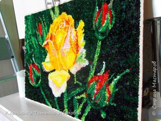 """Вот и моя чайная роза наконец """"расцвела"""". Всё не давали покоя прекрасные розы Николая Михайловича Беликова. Ну, а я в """"своей"""" любимой технике попыталась сделать эту царицу цветов. фото 4"""