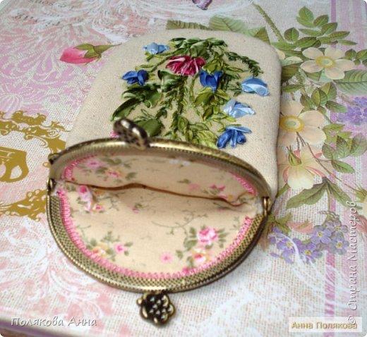 Дорогие мастерицы!  Сшила два очечника, украшенные вышивкой шелковыми лентами. фото 6
