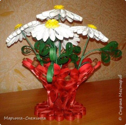 Вашему вниманию представляю такую вот вазочку с ромашками. фото 2