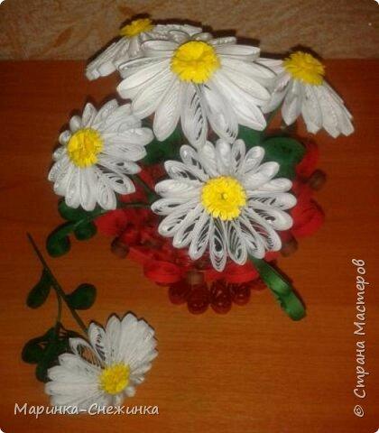 Вашему вниманию представляю такую вот вазочку с ромашками. фото 1