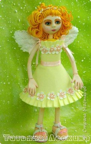 Приветствую всех, зашедших в гости, и представляю свою новую авторскую куклу- Светлого Ангела фото 6