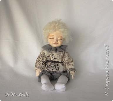 Малышей лепила по МК Юлинка1 Арина, 24см. Тело мяконабивное,руки до локтей, ноги до колен, голова из самоотвердевающего пластика. фото 7