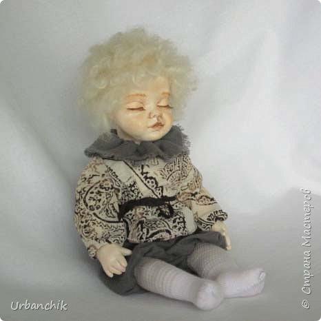 Малышей лепила по МК Юлинка1 Арина, 24см. Тело мяконабивное,руки до локтей, ноги до колен, голова из самоотвердевающего пластика. фото 9
