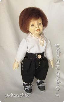Малышей лепила по МК Юлинка1 Арина, 24см. Тело мяконабивное,руки до локтей, ноги до колен, голова из самоотвердевающего пластика. фото 5