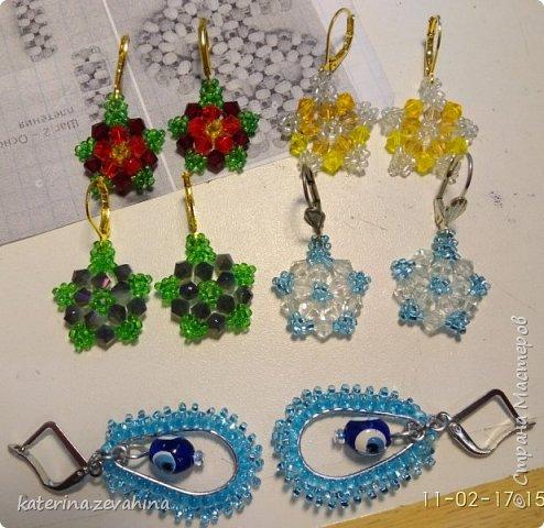 Когда плету ожерелье, обязательно делаю и серёжки. Но иногда мастерю их и просто так, без комплекта. фото 1