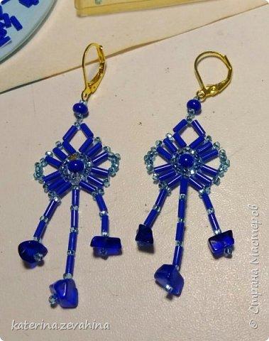 Когда плету ожерелье, обязательно делаю и серёжки. Но иногда мастерю их и просто так, без комплекта. фото 6
