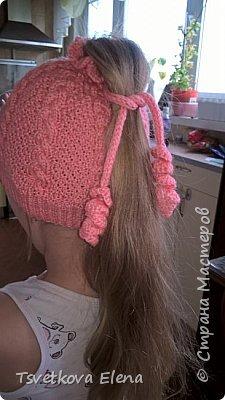 шапка с дыркой для длинных волос  фото 3
