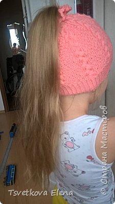 шапка с дыркой для длинных волос  фото 1