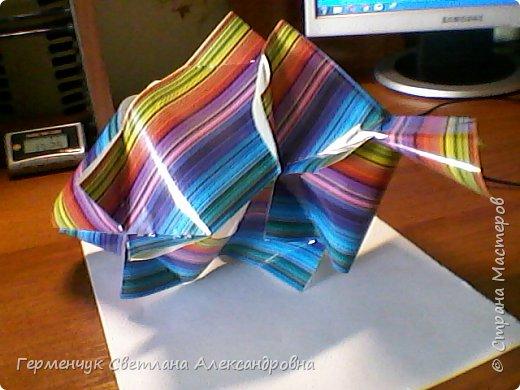 Представляю вашему вниманию  сувенирную объемную рыбку ( оригами) , которую можно использовать как упаковку небольшого подарка .(Увидела в Интернете) фото 21