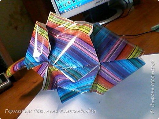 Представляю вашему вниманию  сувенирную объемную рыбку ( оригами) , которую можно использовать как упаковку небольшого подарка .(Увидела в Интернете) фото 23