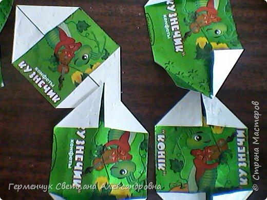 Представляю вашему вниманию  сувенирную объемную рыбку ( оригами) , которую можно использовать как упаковку небольшого подарка .(Увидела в Интернете) фото 2