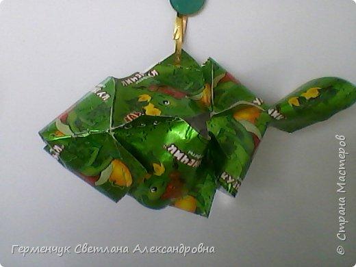 Представляю вашему вниманию  сувенирную объемную рыбку ( оригами) , которую можно использовать как упаковку небольшого подарка .(Увидела в Интернете) фото 9