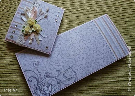 Добрый вечер, СМ! Предлагаю Вашему вниманию конвертик для денежного подарка на свадьбу. фото 2