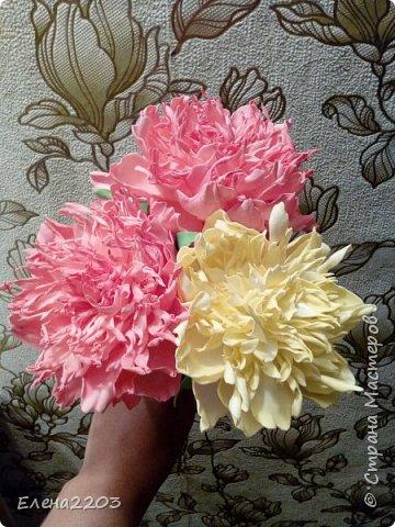 Первые мои цветы из фоамирана.