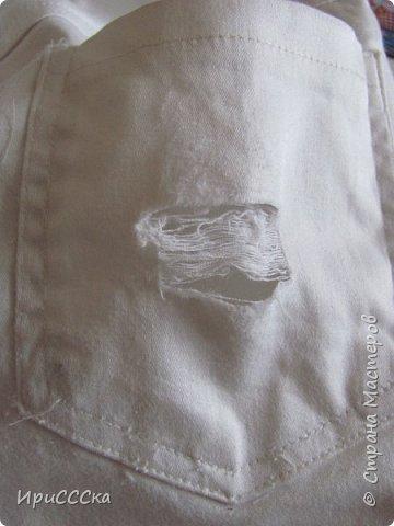 Будем делать модные рваные шорты из старых джинсов. фото 11
