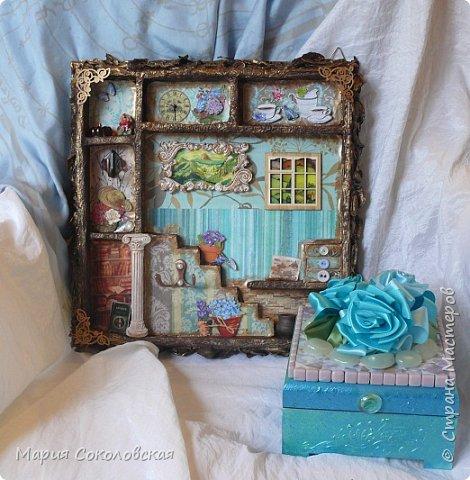 """Доброго времени суток! Представляю Вашему вниманию наборчик """"Хозяйка медной горы"""" - ключница (шедоубокс) и шкатулка, сделанные для подруги на День Рождения.  фото 1"""
