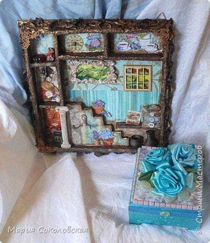 """Доброго времени суток! Представляю Вашему вниманию наборчик """"Хозяйка медной горы"""" - ключница (шедоубокс) и шкатулка, сделанные для подруги на День Рождения.  фото 2"""