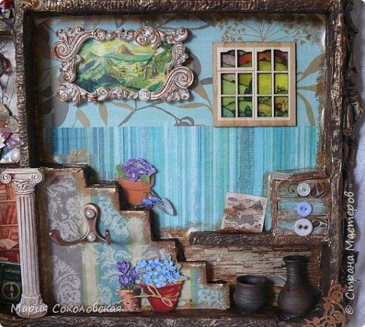 """Доброго времени суток! Представляю Вашему вниманию наборчик """"Хозяйка медной горы"""" - ключница (шедоубокс) и шкатулка, сделанные для подруги на День Рождения.  фото 4"""