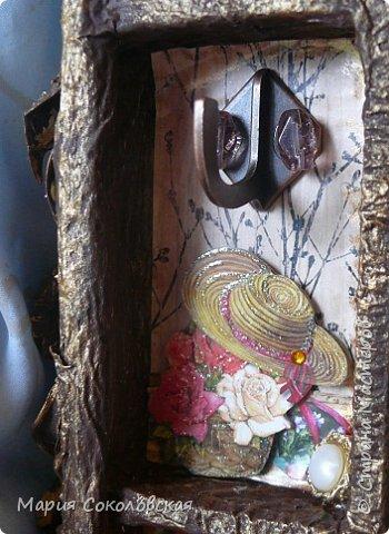 """Доброго времени суток! Представляю Вашему вниманию наборчик """"Хозяйка медной горы"""" - ключница (шедоубокс) и шкатулка, сделанные для подруги на День Рождения.  фото 10"""