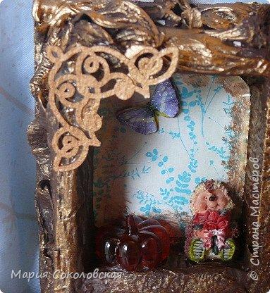 """Доброго времени суток! Представляю Вашему вниманию наборчик """"Хозяйка медной горы"""" - ключница (шедоубокс) и шкатулка, сделанные для подруги на День Рождения.  фото 11"""
