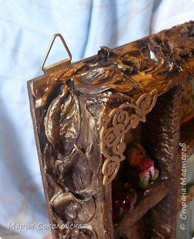 """Доброго времени суток! Представляю Вашему вниманию наборчик """"Хозяйка медной горы"""" - ключница (шедоубокс) и шкатулка, сделанные для подруги на День Рождения.  фото 15"""