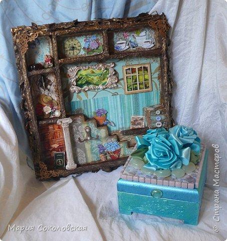 """Доброго времени суток! Представляю Вашему вниманию наборчик """"Хозяйка медной горы"""" - ключница (шедоубокс) и шкатулка, сделанные для подруги на День Рождения.  фото 25"""