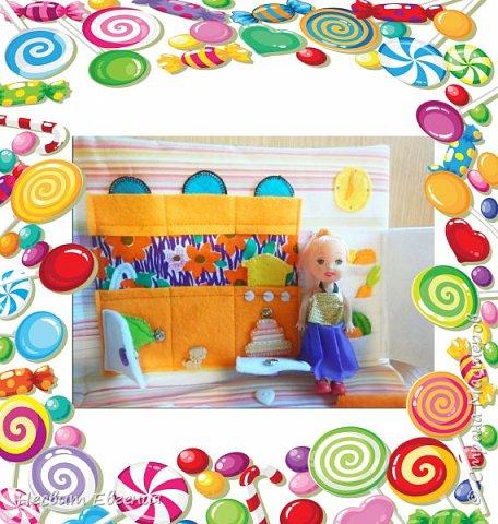 Текстильный кукольный домик фото 3