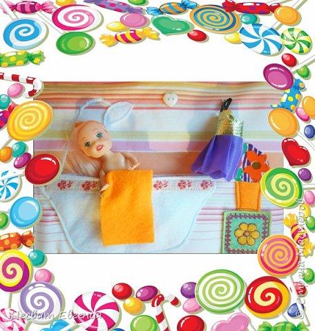 Текстильный кукольный домик фото 5
