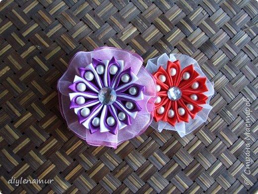 Делаем атласный цветок с подложкой из органзы